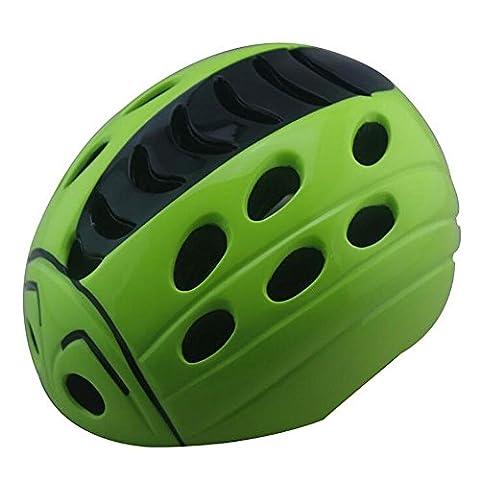 Lei HuanLeBao Bicycle Helmet Child Safety Cute Ladybug Helmet Removable Bicycle Helmet Mount Helmet Guard , green