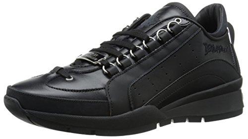 Dsquared2 scarpe sneakers uomo in pelle nuove 551 vitello sport nero EU 42 W15SN4040652124