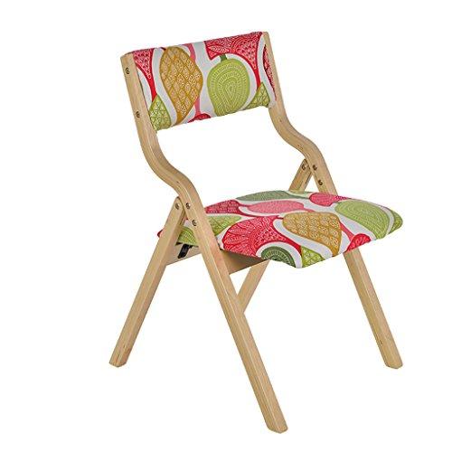 LCPG Stuhl aus massivem Holz, faltbar, waschbar, stapelbarer Stauraum, geeignet für Zuhause/Büro (Multi-selektive Farbrückenlehne) (Farbe : Style2, größe : Set of 2) -