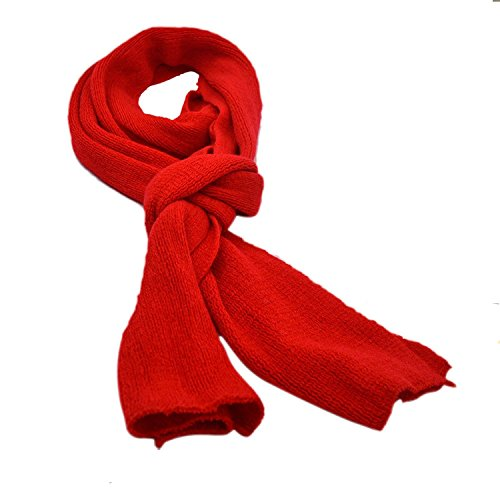 Modische Damen Winter Warm Wolle stricken Infinity Scarf Schal rot