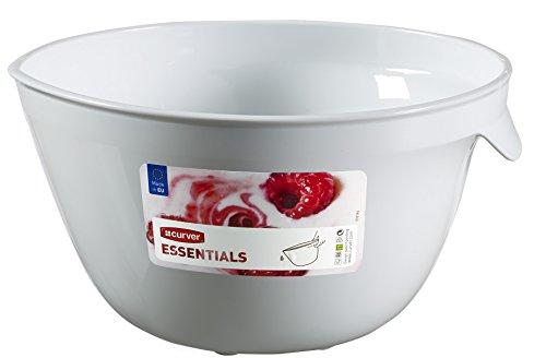 Curver 00732-059-00 Essentials-Ciotola per mescolare in plastica, colore: bianco/multicolore, dimensioni: 23 x 21 x 12,2 cm, 2,5 L