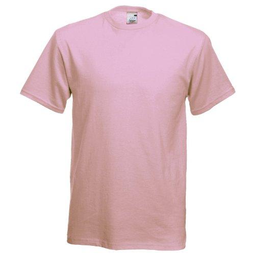 Fruit of the Loom Herren T-Shirt Rosa - Light Pink