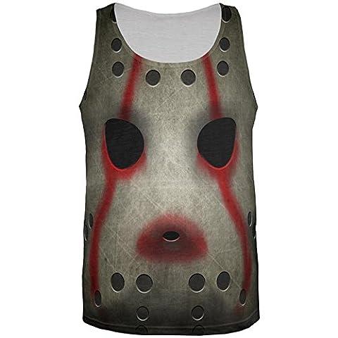 Halloween Horror Film Hockey Maske Kostüm aller Herren Tank Top Multi 2XL (Music Man Film Kostüme)