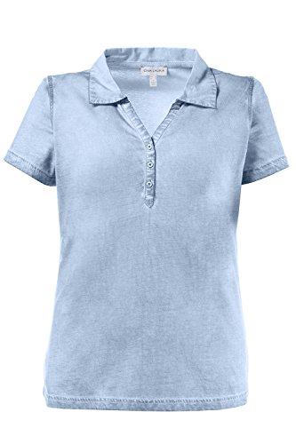 GINA_LAURA Damen | bis Größe 3XL | Polo-Shirt mit Knopfleiste & Web-Kragen  ...