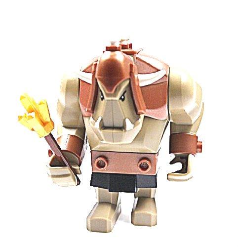 LEGO CASTLE - 1 Sammelfigur TROLL mit Zepter in braun / pearl gold - Fantasy Era