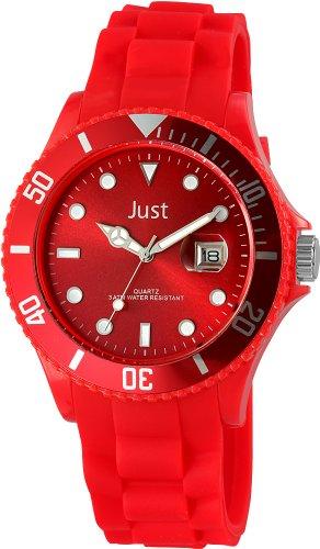 Just Watches 48-S3862-BR - Orologio da polso unisex, cinturino in caucciù colore marrone