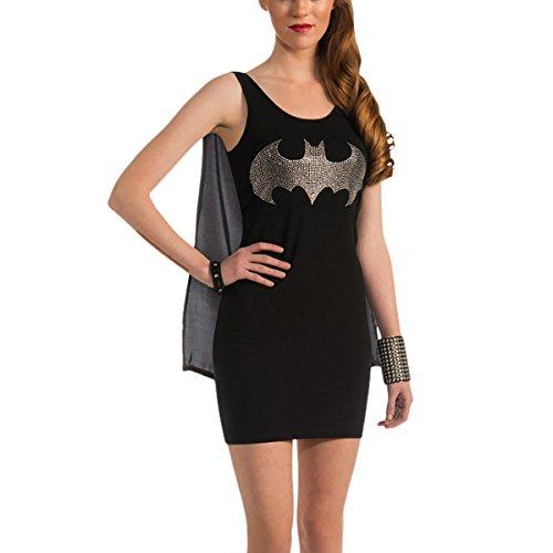 Batgirl Glitter Kostüm Damen Kleid mit abnehmbarem Umhang DC Comics lizenziert - (Frauen Für Kostüme Dc)