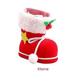 Ayouyou Weihnachtsstiefel Weihnachtsdekorationen Weihnachtenmann Süßigkeit Stiefel Weihnachtsschmuck (Kleine) EINWEG Verpackung