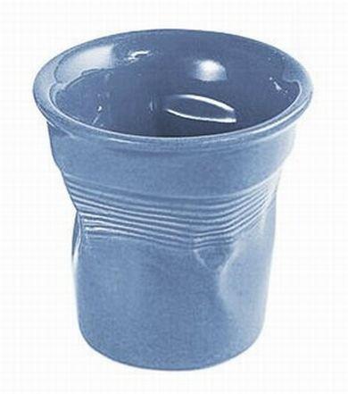Bialetti Bicchiere maxi stropicciato porcellana color azzurro