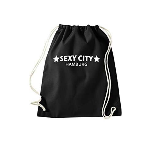 Turnbeutel Sexy City Hamburg La Tua Borsa Gymsack Cult Bag Nera
