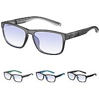 Rezi Gafas ópticas de ordenador, Gafas Lectura para Protección contra Luz Azul - Protección para Pantalla, Marco ultraligero | Luz anti-azul | 100% protección UV, Evita la Fatiga Ocular para PC, Móvil