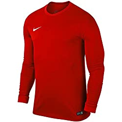 Nike LS Park Vi JSY Camiseta de Manga Larga, Hombre, Rojo (University Red/White), L