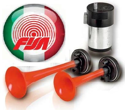 Preisvergleich Produktbild Fanfare Zweiklang Kompressor rot Markenware aus Italien