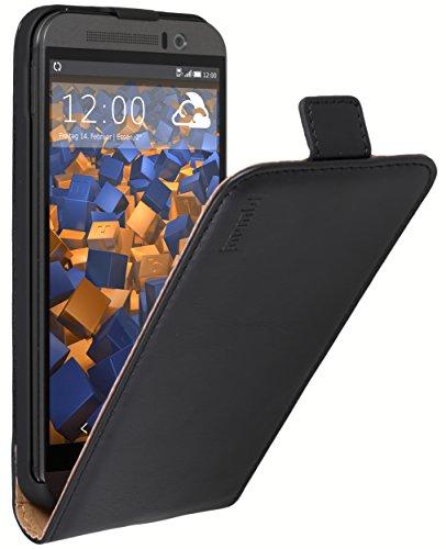 Preisvergleich Produktbild mumbi PREMIUM Leder Flip Case für HTC One (M9) Tasche