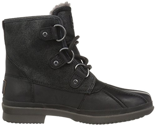 UGG Australia Womens Cecile Leather Boots Black