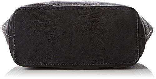 ESPRIT Damen mit Praktischem Innenleben Schultertaschen, 14x30.5x30 cm Schwarz (001 Black)