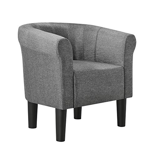 [en.casa] Sessel 70x70x58cm Clubsessel Loungesessel Cocktailsessel Relaxsessel Dunkelgrau Textil