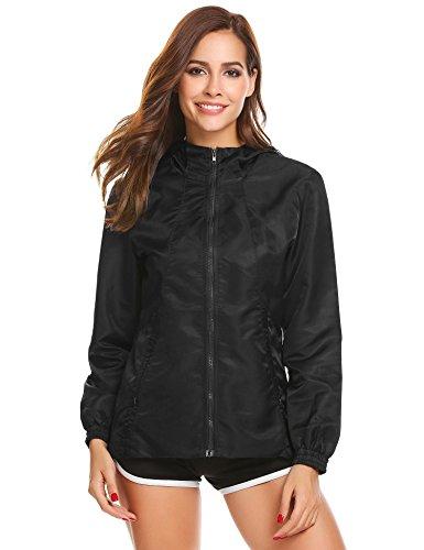 Damen Jacke Wind- und Wasserdichte Übergangsjacke Outdoorjacke Funktionsjacke Wanderjacke Regenjacke mit Kapuze