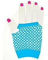 Short Fishnet Fingerless Gloves - Turquoise