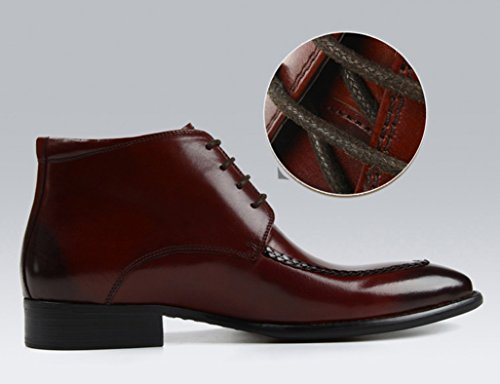 Scarpe Uomo in Pelle Scarpe da uomo in pelle Abbigliamento formale Scarpe alte da lavoro Stivali stile inglese Martin ( Colore : Marrone , dimensioni : EU40/UK6.5 ) Marrone