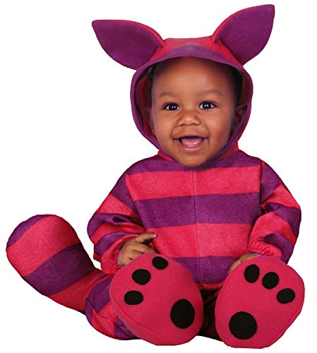Mädchen Baby Katze Kostüm - Fancy Me Baby Jungen Mädchen Streifen Pink Lila Katze Weltenbuch Tag Karneval Halloween Kostüm Outfit 6-24 Monate