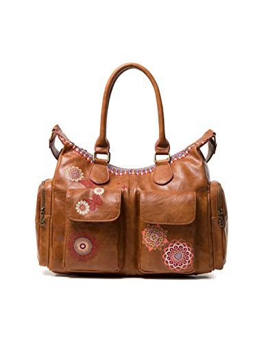 Desigual Damen Bag Chandy London Women Schultertasche, Braun (Marron), 15.5x25.5x32 cm
