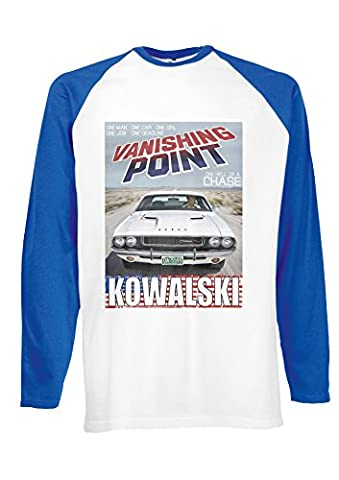 Dodge Challenger RT 440 Magnum Kowalski Vanishing Royal Blue/White Men Women Unisex Long Sleeve Baseball T Shirt-XXL