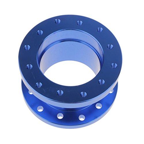 50cm Aluminium Kit Adaptateur Moyeu Patron De Volant D'espacement Pour Voiture - Bleu