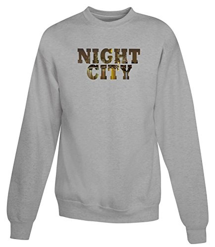 Billion Group | Night Town | City Collection | Women's Unisex Sweatshirt Gris