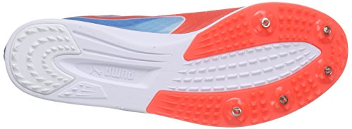 PumaevoSPEED Distance v6 - Scarpe Running Uomo Bianco (Weiß (white-atomic blue-red blast 01))