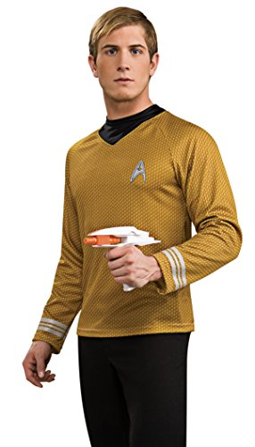Kostüm Trek Shirt Captain Star Kirk - Generique - Captain Kirk-Herrenkostüm Deluxe Star Trek gelb S
