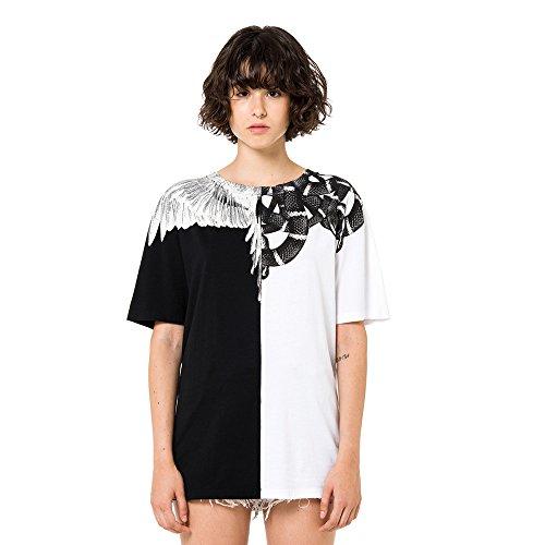 MARCELO BURLON-T-shirt in cotone CWAA016R1804702 WHITE - BLACK