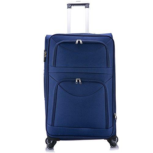 EUGAD RK4214bl-XL Reise Koffer Trolley 1200D Oxford Weichschale , Reisekoffer Stoff 4 Rollen , Weichgepäck Reisegepäck Handgepäck M / L / XL / Set , leicht &...