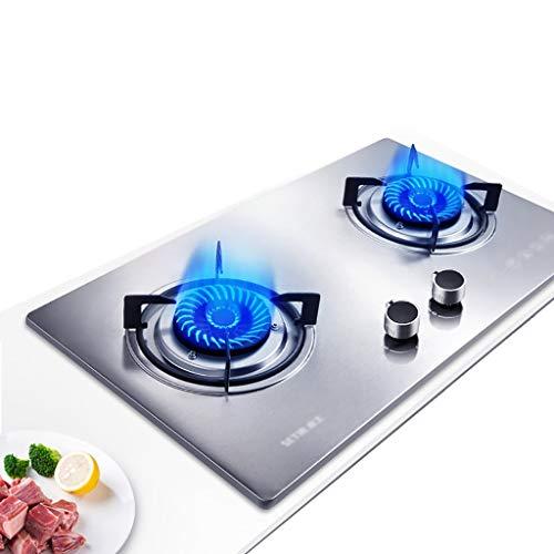 Gas Herd Küche Kochfeld, 63 cm Einbauschränke 2 Brenner Gas-on-Glass mit Flamme Ausfallschutz, leicht zu reinigen [Energieklasse A] (Color : B, Size : Liquefied Gas)