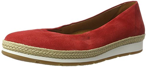 Gabor Shoes Damen Comfort Geschlossene Ballerinas, Rot (Red (Jute) 48), 41 EU