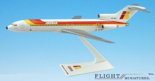 iberia-727-200-airplane-miniature-model-plastic-snap-fit-1200-part-abo-72720h-030-by-flight-miniatur