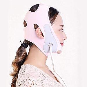 LQUIDE Aufblasbare V-Gesichtsmaske, Masseter Muskelkontraktion Kinnschlafgurt/aufblasbarer Gurt/Hebeverband Heben