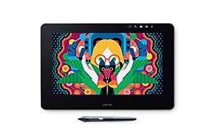 """Wacom Cintiq Pro 13"""" - Ecran interactif - Tablette graphique sans fil à stylet pour le milieu professionnel - Compatible avec Mac et Windows - Noir"""
