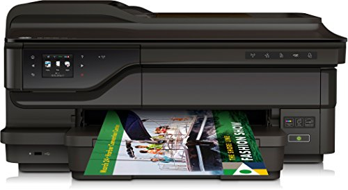 HP Officejet 7612 (G1X85A) A3 All-in-One Drucker (Drucker, A4 Scanner, Kopierer, Fax, 4800 x 1200 dpi, USB, WLAN, LAN, Airprint, Cloud print) schwarz (Drucker All In One Wireless Hp)