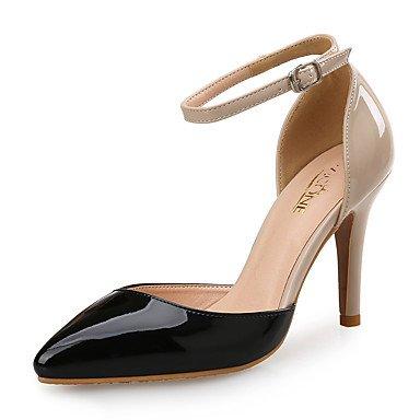 LvYuan Da donna-Sandali-Ufficio e lavoro Formale Serata e festa-Club ShoesSintetico Vernice-Nero Tessuto almond Black