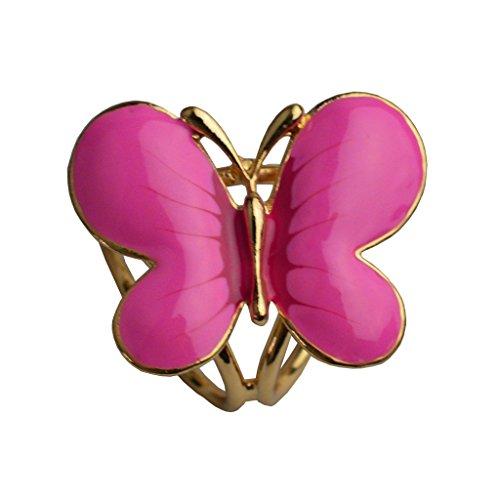 S&E Femmes ¨¦l¨¦gantes 3D Trois Anneaux Papillon Peinture Design ¨¦charpe Anneaux m¨¦tallique Echarpes Boucle or + rouge