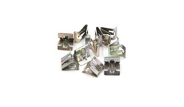 Sourcingmap 10/pcs 7/mm Trou Rivets en m/étal Int/érieur de Voiture Tableau de Bord Panneau Garniture Clips de Fixation pour
