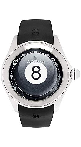 Corum Big Bubble 8 Billiard Ball Limited Edition Titanium Automatic Black Rubber Strap Mens Watch 390.101.04/0371 BA08