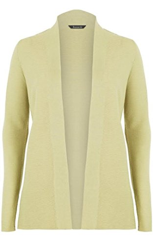 bon-marche-light-green-fine-knit-edge-to-edge-cardigan-size-med-14-16