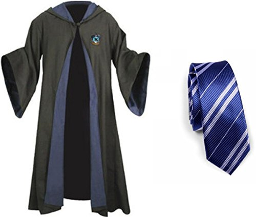 Harry Potter Ravenclaw School Fancy Robe Cloak Costume And Tie (Size L) (Harry Potter Kostüm Robe)