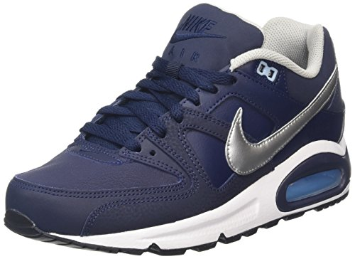 Nike Herren Air Max Command Leather Gymnastikschuhe, Grau (Obsidian/Metallic Silver/Blue 401), 39 EU