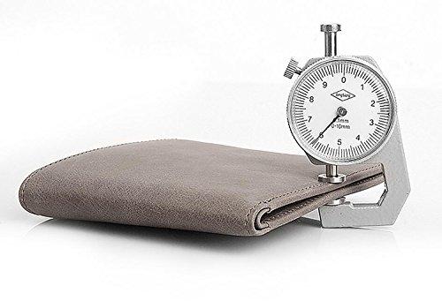 ZXDOP Geldbörsen Herren Leder Brieftasche Retro Herren Kurze Herren Leder Personalisierte Leder Brieftasche ( farbe : 2# ) 4#