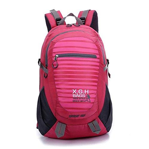 LINGE-Bergsteigen Tasche große Reise Rucksack wasserdicht outdoor Outdoor-Sport für Männer und Frauen 45L Pink