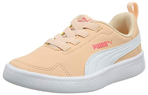 PUMJV|#Puma Unisex-Kinder Courtflex Ps Sneaker, Pink (Peach Parfait-Puma White 24), 2.5 (35 EU)
