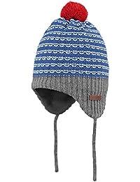 Barts Babymütze 3342104 Tambu Beanie Blue mit Bommel und Bändchen Gr. 45 (3-12m)